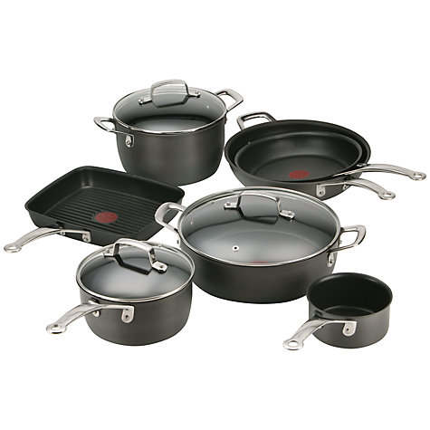buy tefal jamie oliver hard anodised cookware john lewis. Black Bedroom Furniture Sets. Home Design Ideas
