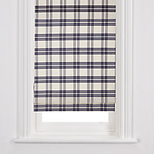 Buy John Lewis Winchester Check Roman Blind Online at johnlewis.com