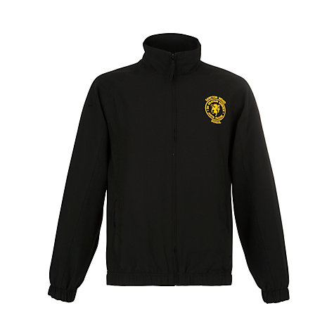 Buy Sancton Wood School Unisex Tracksuit Top, Black Online at johnlewis.com