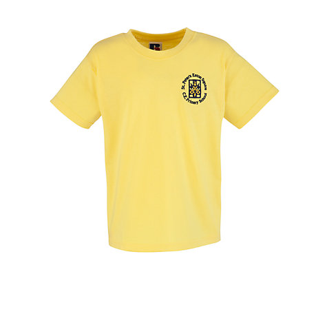 Buy St Peter's Eaton Square C of E Primary School PE T-shirt, Yellow Online at johnlewis.com