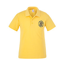 Buy St Peter's Eaton Square C of E Primary School Polo Shirt, Yellow Online at johnlewis.com