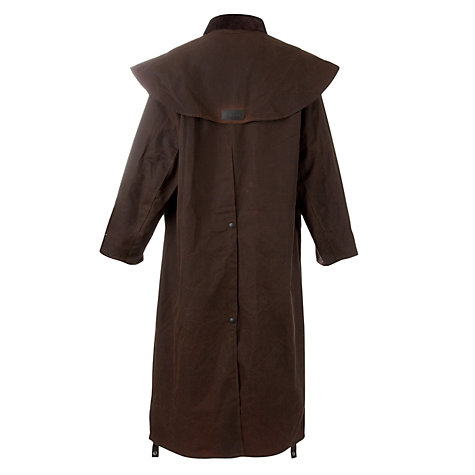 Buy Barbour Stockman Waxed Coat, Brown Online at johnlewis.com