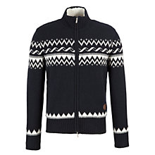 Buy Armani Jeans Fair Isle Cardigan, Navy Online at johnlewis.com