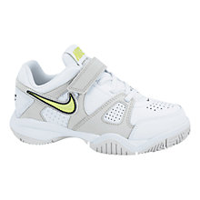 Buy Nike Citycourt 7 Trainers, White/Multi Online at johnlewis.com