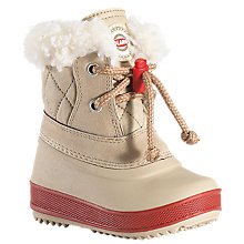 Buy Olang Ape Snow Boots, Beige/Red Online at johnlewis.com