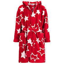 Buy John Lewis Boy Star Robe, Red/White Online at johnlewis.com