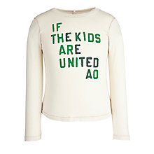 Buy American Outfitters Kids United Long Sleeved Top, Ecru Online at johnlewis.com