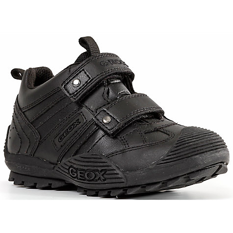 Buy Geox Children's Savage Shoes, Black Online at johnlewis.com