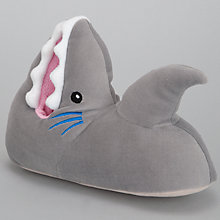 Buy John Lewis Boy Shark Slippers, Grey Online at johnlewis.com