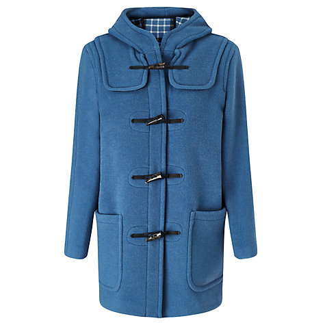 Buy Gloverall Classic Short Fit Duffle Coat, Sky Blue Online at johnlewis.com