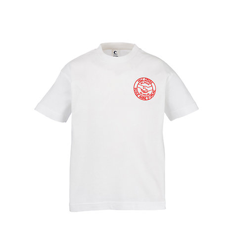 Buy Bilingue/Bilingual Stream of L'Ecole Marie D'Orliac & Holy Cross School PE T-shirt, White Online at johnlewis.com