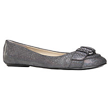 Buy Nine West Ontheline Fabric Ballet Pumps, Grey Metallic Online at johnlewis.com