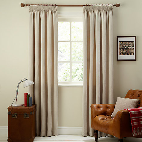 Buy John Lewis Lined Pencil Pleat Chenille Curtains Online at johnlewis.com