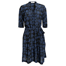 Buy Farhi by Nicole Farhi Darlina Silk Dress, Navy Online at johnlewis.com