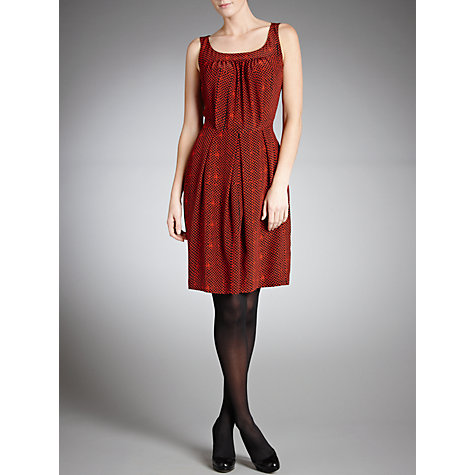 Buy Farhi by Nicole Farhi Denailia Dress, Brick Online at johnlewis.com