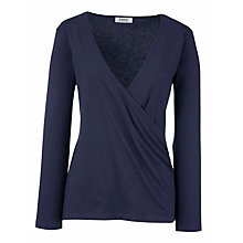 Buy Farhi by Nicole Farhi Deneen Wrap Top, Blue Online at johnlewis.com