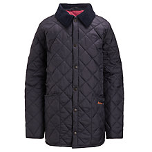Buy Barbour Boys' Union Jack Liddlesdale Jacket, Navy Online at johnlewis.com