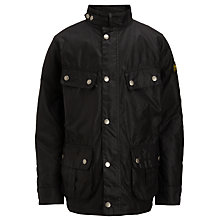 Buy Barbour Duke Jacket, Black Online at johnlewis.com