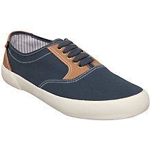 Buy Dune Canvas Trainers, Navy Online at johnlewis.com