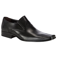 Buy Bertie Brookes Leather Brogue Loafers, Black Online at johnlewis.com