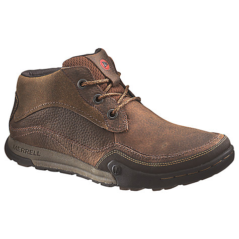 Buy Merrell Mountain Kicks Leather Chukka Boots, Brown Online at johnlewis.com