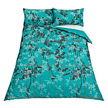 Buy Clarissa Hulse Kew Standard Pillowcases, Kingfisher, Pair Online at johnlewis.com