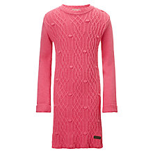 Buy Barbour Girls' Pember Knitted Dress, Pink Online at johnlewis.com