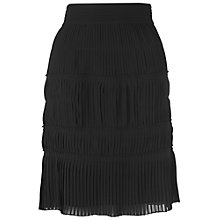 Buy L.K. Bennett Brea Chiffon Pleated Skirt, Black Online at johnlewis.com