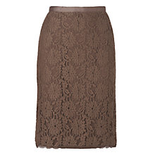 Buy L.K. Bennett Isabella Lace Skirt, Smoky Quartz Online at johnlewis.com