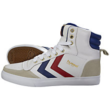 Buy Hummel Stadil Hi Top Junior Trainers, White/Multi Online at johnlewis.com
