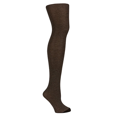 Buy John Lewis Viscose Striped Tights, Black Online at johnlewis.com