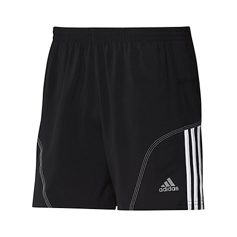 "Buy Adidas Response 5"" Shorts, Black/White Online at johnlewis.com"