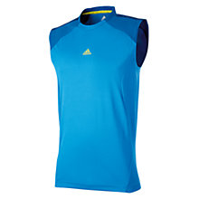 Buy Adidas Clima365 Sleeveless T-Shirt, Bright Blue Online at johnlewis.com