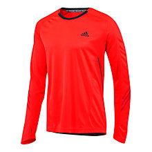 Buy Adidas Climacool® Long Sleeve T-Shirt, Red Online at johnlewis.com