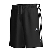 Buy Adidas CLIMALITE Essential 3 Stripe Shorts, Black Online at johnlewis.com