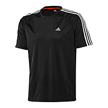 Buy Adidas CLIMALITE Essential 3 Stripe T-Shirt Online at johnlewis.com