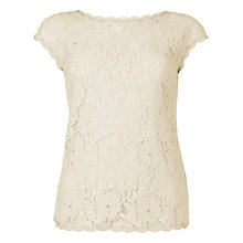 Buy L.K. Bennett Isabella Lace Top, Champagne Online at johnlewis.com