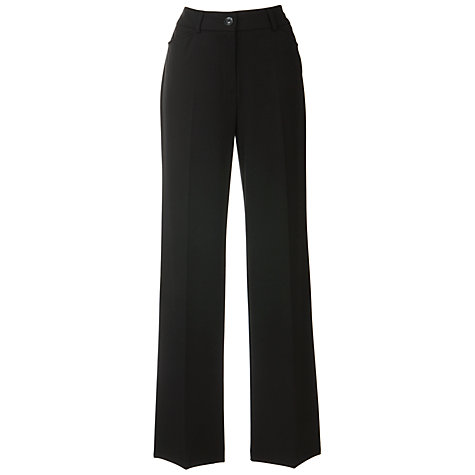 "Buy Gerry Weber Pamela Smart Trousers, L33"", Black Online at johnlewis.com"