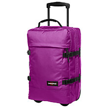 Buy Eastpak Transfer 2-Wheel Holdall, Hot Pink Online at johnlewis.com