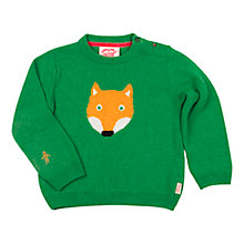 Buy Tootsa MacGinty Fox Jumper, Green Online at johnlewis.com
