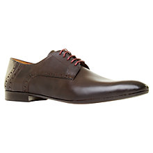 Buy KG by Kurt Geiger Harris Brogue Derby Shoes, Brown Online at johnlewis.com