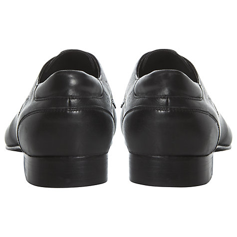 Buy Dune Ample Leather Derby Shoes, Black Online at johnlewis.com