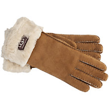 Buy UGG Shearling Sheepskin Turn Cuff Gloves Online at johnlewis.com