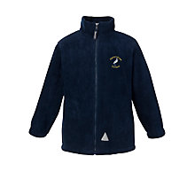 Buy Heronshaw School Unisex Fleece, Navy Online at johnlewis.com
