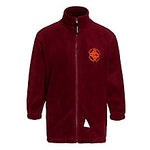 Buy St Columbas RC Primary School Unisex Fleece Jacket, Maroon Online at johnlewis.com