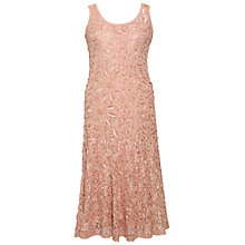 Buy Chesca Lace Embroidered Dress, Apricot Online at johnlewis.com