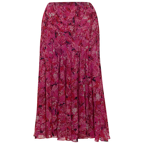 Buy Chesca Pleated Crinkle Skirt, Cerise Online at johnlewis.com