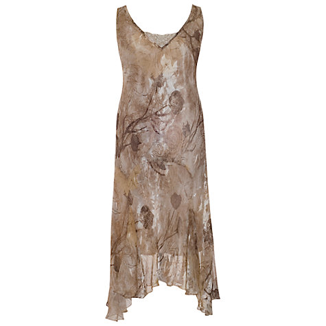 Buy Chesca Devore Silk Mix Dress, Gold/Mocha Online at johnlewis.com
