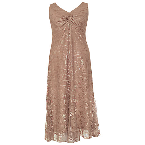 Buy Chesca Line Mesh Lace Dress, Rose Gold Online at johnlewis.com