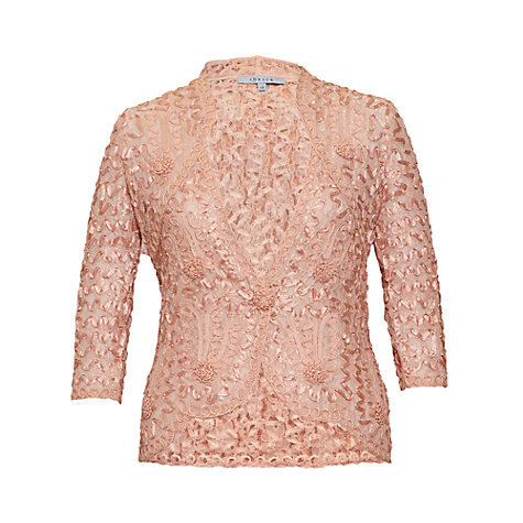 Buy Chesca Lace Embroidered Jacket, Apricot Online at johnlewis.com
